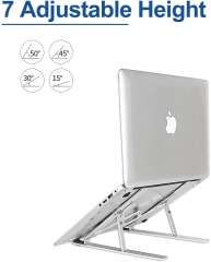 Aluminum Ventilated Notebook Riser for MacBook Air Pro, Dell XPS, More 10-15.6 inches PC Computer, Tablet, iPad