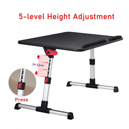 Adjustable Laptop Stand Bed Tray Table Portable Lap Desks with Foldable Legs for Notebook